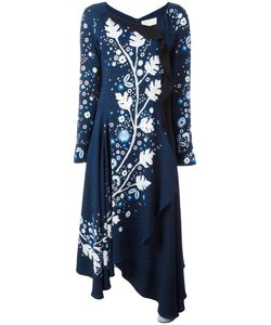 Peter Pilotto | Leaf Stencil Print Dress 14 Viscose/Spandex/Elastane/Polyester/Acetate