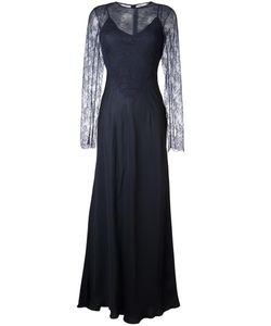 Nina Ricci | Lace Detail Overlay Dress 36 Viscose/Silk/Polyamide