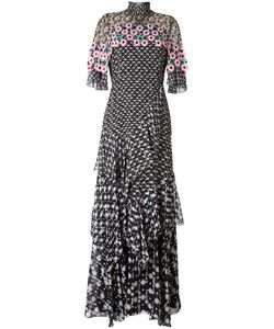 Peter Pilotto | Tiered Crochet Overlay Dress 10 Silk/Polyester/Polyamide