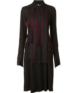 Yang Li | Knee Length Shirt Dress 42 Nylon/Viscose