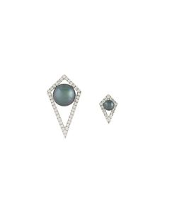ELISE DRAY | Small And Large Diamond Moon Earrings