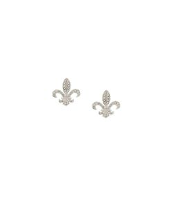 ELISE DRAY | Fleur-De-Lys Diamond Stud Earrings