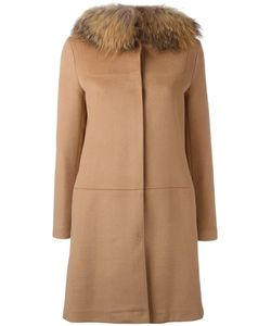 AVA ADORE | Buttoned Mid Coat 42 Virgin Wool/Cashmere/Raccoon