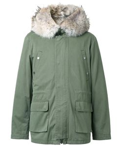 YVES SALOMON HOMME | Padded Hooded Jacket 48 Cotton/Coyote