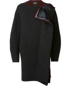 Yang Li | Collarless Cocoon Coat 42 Virgin Wool/Cotton/Polyester