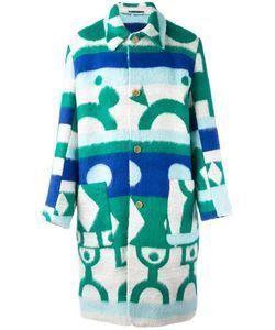 WALTER VAN BEIRENDONCK VINTAGE | Walter Van Beirendonck Ethnic Motif Coat 48 Polyester/Acrylic/Acetate/Viscose