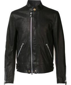 THE SOLOIST | Banded Collar Jacket 52 Cupro/Calf Leather