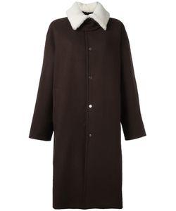 Agi & Sam | Shearling Collar Long Coat 36