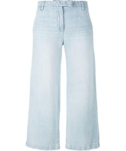 Current/Elliott | Cropped Wide Leg Jeans 27 Cotton/Linen/Flax