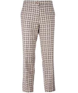 Etro | Paisley Print Trousers 44 Polyester/Spandex/Elastane/Viscose/Wool