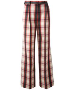 MSGM | Checked Fla Trousers 42 Virgin Wool/Polyester