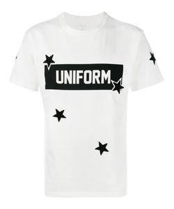 UNIFORM EXPERIMENT | Star Print T-Shirt 1 Cotton/Acrylic/Polyester
