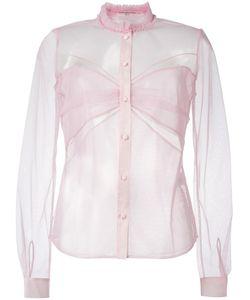 Mary Katrantzou | Ruffle Collar Tulle Blouse 10 Polyamide/Silk