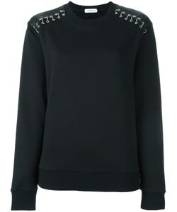 Mugler | Studded Shoulder Sweatshirt Large Cotton/Brass