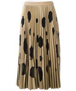 MSGM | Polka Dot Pleated Skirt 38 Polyester/Spandex/Elastane/Viscose