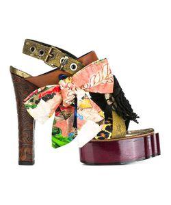 Vivienne Westwood   Buckled Platform Sandals 38 Goat Skin/Viscose