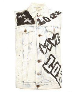 Faith Connexion | Love Prints Sleeveless Jacket Medium Cotton