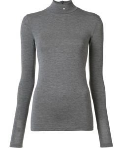 Gareth Pugh | Back Zip Turtleneck Top 44 Nylon/Spandex/Elastane/Modal