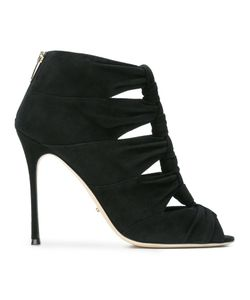 Sergio Rossi | Knotted High Heel Sandals 38.5 Suede/Leather