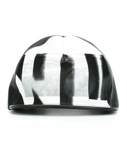 NIL0S | Printed Leather Cap Sheep Skin/Shearling