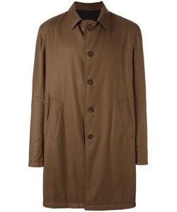 LARDINI RVR | Buttoned Raincoat 54 Wool/Nylon