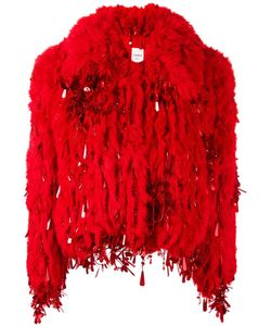Ashish | Short Fur Jacket Medium Acrylic/Polyester/Silk