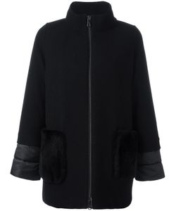 Fay | High Neck Zipped Coat Medium Wool/Polyamide/Polyester