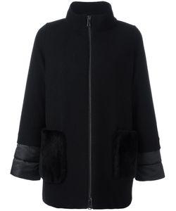Fay | High Neck Zipped Coat Medium Wool/Polyamide/Polyester