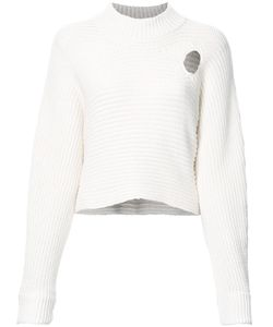 Alexander Wang | Mock Neck Cropped Jumper Xs Cotton/Nylon