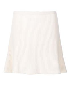 The Elder Statesman | Ribbed A-Line Skirt Small Cashmere