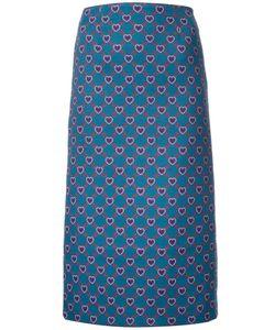 Mary Katrantzou | Heart Print Sigma Skirt 6 Polyester/Polyamide/Wool