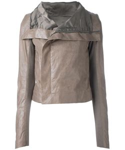 Rick Owens   Classic Biker Jacket 38 Calf Leather/Cupro/Virgin