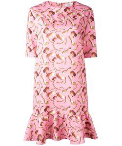 Giorgia Fiore | Doll Print Dress 38 Polyester/Spandex/Elastane