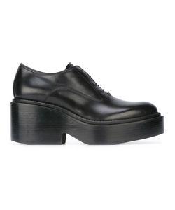 MM6 by Maison Margiela | Mm6 Maison Margiela Platform Lace-Up Shoes 36 Leather/Rubber