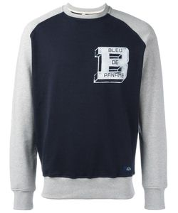 Bleu De Paname | Panelled Logo Sweatshirt Large Cotton