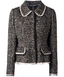 Dolce & Gabbana | Tweed Jacket 38 Cotton/Polyamide/Spandex/Elastane/Spandex/Elastane
