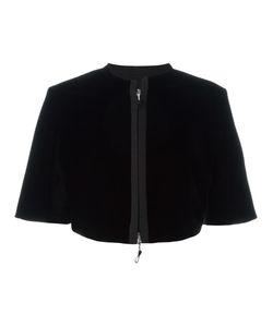 Giorgio Armani | Flared Shortsleeved Jacket 46 Viscose/Cupro/Silk
