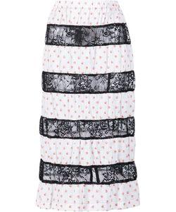 Tricot Comme des Garçons | Comme Des Garçons Tricot Contrast Lace Stripe Skirt Cotton/Polyester