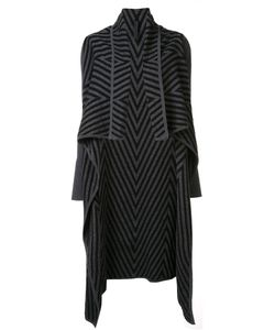 Gareth Pugh | Chevron Draped Cardi-Coat Large Wool