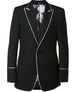 Alexander McQueen | Contrast Trim Blazer 50 Wool