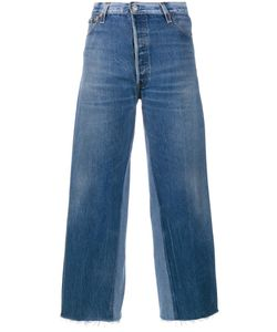 Re/Done | Panelled Cropped Jeans 24 Cotton