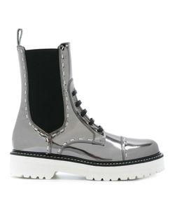 Dolce & Gabbana   Utility Boots 36.5 Leather/Spandex/Elastane/Rubber