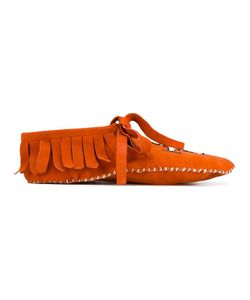 BROTHER VELLIES | Embroidered Moccasins 9 Suede
