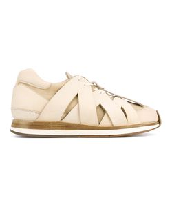 HENDER SCHEME | Criss Cross Effect Sneakers 41 Leather/Pig