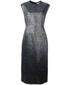 Jil Sander | Round Neck Long Dress 34 Polyamide/Polyester/Silk/Cupro