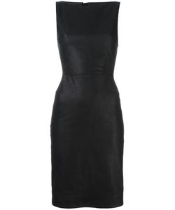 Gareth Pugh | Leather Fitted Dress 42 Cotton/Silk/Lamb Skin/Spandex/Elastane
