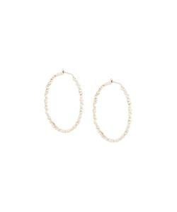 Bea Bongiasca | Rice Detail Hoop Earrings Large