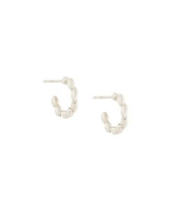 Bea Bongiasca | Curved Rice Detail Earrings Small