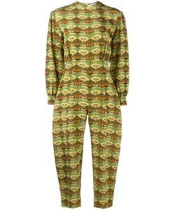 Tata Naka | Printed Open Back Jumpsuit 12 Silk
