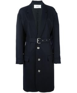 Julien David | Single Breasted Coat Large Silk/Cotton/Wool